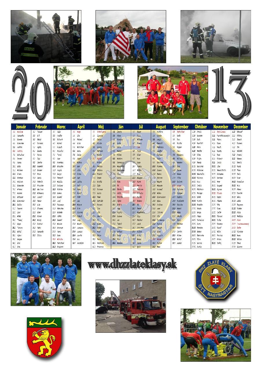 Kalendár 2013