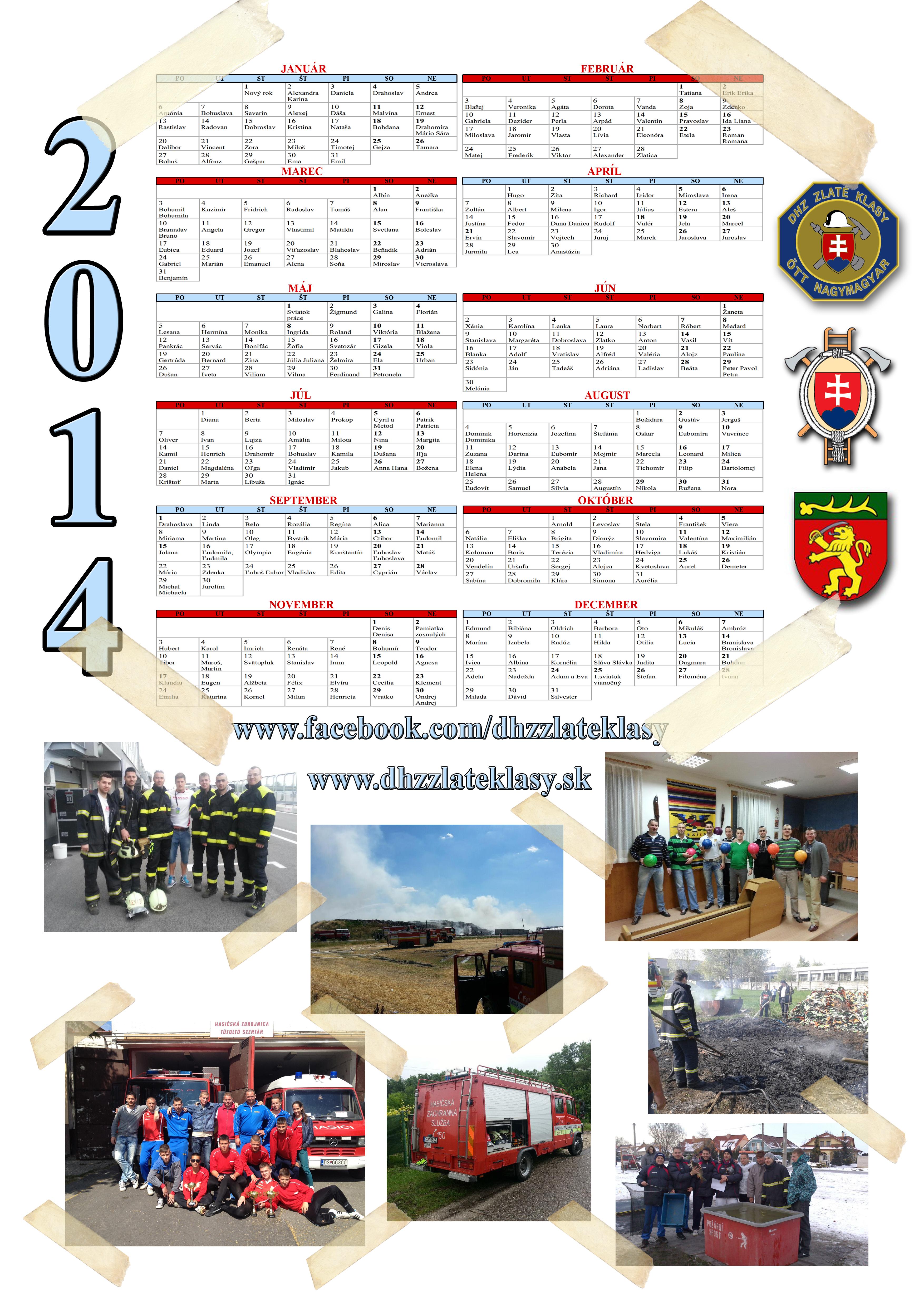 Kalendár 2014