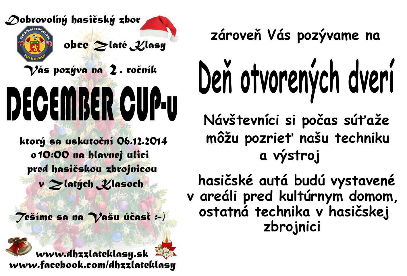 December cup pozvánka